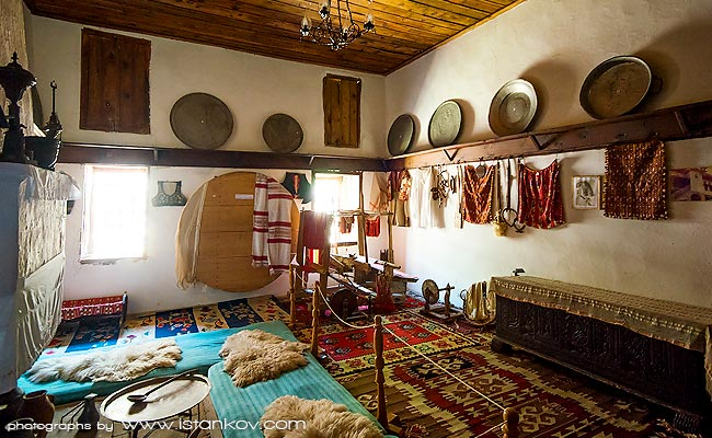 Interior of Ethnographic museum of Kruje