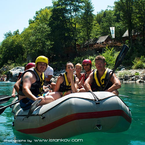 One day white water rafting on Tara River in Montenegro