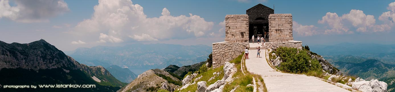Lovcen and Mausoleum of famous poet writer statesman ruler and bishop Petar the Second Petrovic Njegos